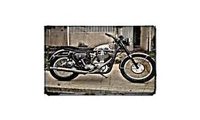 Cb34 Motorbike Sign Metal Retro Aged Aluminium Bike
