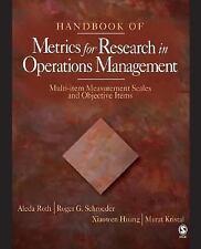 Handbook of Metrics for Research in Operations Management: Multi-item Measuremen