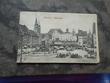 AK Nürnberg Marktplatz 1908 gelaufen Postkarte Neptunbrunne