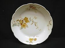 Vintage Haviland & Co Limoges Soup Bowl Brown Floral Blue Green Leaves Branches