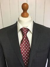 "Mens ELEGANT CANALI ""ITALIAN"" WOOL SUIT In GREY 40R *WORN TWICE ONLY*"