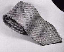 New 100% Silk Classic Length Tommy Hilfiger Silver Striped Necktie Made in USA