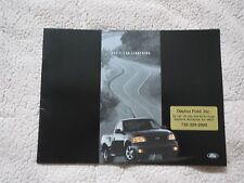 2001 FORD SVT F150 F-150 LIGHTNING FACTORY ORIGINAL SALES BROCHURE