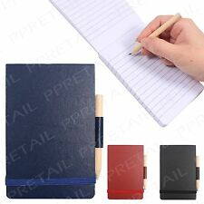 13cm Pocket Size Notebook & Pencil +REPORTER STYLE+ Writing Journal Diary Lined