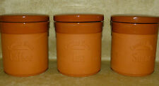 Storage Jars Farmhouse Kitchen Earthenware Country Tea Sugar Coffee Kitchenalia