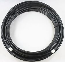 Times Microwave LMR-400 Ham & CB Coax Cable 100ft w/PL-259 connectors