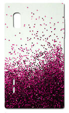 CUSTODIA COVER CASE FANTASIA BRILLANTINI  ROSA PINK PER LG Optimus L5 E610