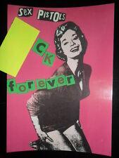 SEX PISTOLS / Jamie Reid - F*CK FOREVER - Original Licensed Postcard PUNK c1989