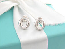 Tiffany & Co Silver Peretti Sevillana Circle Round Earrings Box Included