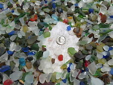 1/4-1/2 INCH 3 POUND MACHINE MADE RECYCLED TUMBLED BEACH SEA GLASS DECORATION