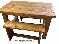 Farmhouse Dining Table and Bench Set