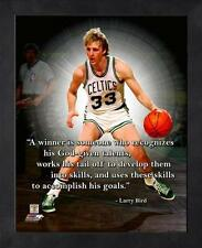"""LARRY BIRD ~ 8x10 Color Pro Quote Photo Picture ~ Framed 9x11 ~ """"Winner"""""""