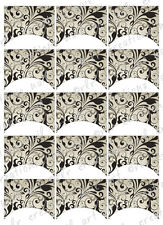 15 FRENCH NAIL TIPS *FLORAL ORNAMENTAL* WATERSLIDE NAIL ART DECALS Nail Decal