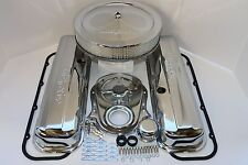 BB CHEVY CHROME TRICK FLOW ENGINE DRESS UP KIT TALL VALVE COVERS AIR CLEANER BBC