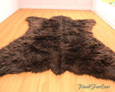 Fur Decors 5' x 6' New Bearskin Accents Lodge Faux Bear Throw Rug Shaggy