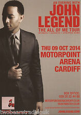 Event Promo Flyer: An Evening With John Legend (Motorpoint, Cardiff, 2014)