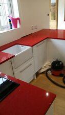 RED MIRROR QUARTZ WORKTOP. 3000mm X700mm X 30mm £300