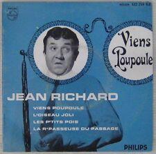 Jean Richard 45 Tours Philips Viens Poupoule 1958
