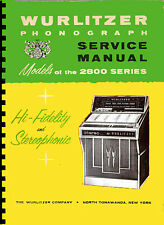 MANUALE COMPLETO (manual) JUKEBOX WURLITZER 2800 - 2810  (juke box) (1964)