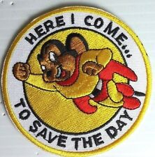 """Mighty Mouse Logo Cartoon  3"""" Embroidered Patch- FREE S&H (ANPA-MM)"""