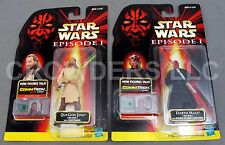 Star Wars Episode 1 Qui-Gon Jinn & Darth Maul CommTech Jedi Duel Hasbro '99 NIP