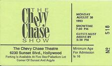 Original TV Taping Ticket: 'THE CHEVY CHASE SHOW' -1993