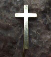Antique Holy Cross Jesus Christ Crucifiction Symbol Christian Religion Pin Badge