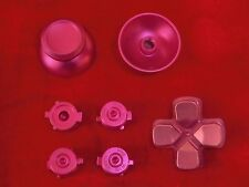 PS4 Controller Modding Set: Thumbsticks Button Steuerkreuz Analog Aluminium PINK