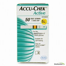 "ACCU CHEK Active 100 Test Strips. 2Box New Sealed Expiry Leisurely. "" ROCHE"""