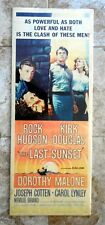 The Last Sunset  Rock Hudson & Kirk Douglas 1961 Original Universal Movie Poster