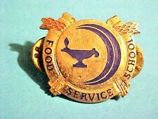 US Military Food Service School. DI DUI Pin Clutchback Crest Medal Badge  G907