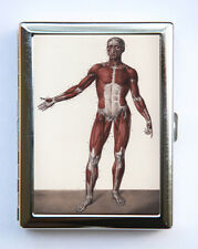 Victorian Anatomy Cigarette Case Wallet Business Card Holder gothic odd medical