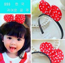 Girls Kids Children Sweet Bow Minnie mouse Bunny Red dots Hair headband Bands