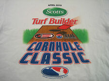 Scotts Cornhole Classic Texas Motor Speedway Childrens Charity Mens XL T-Shirt
