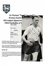 TOM FINNEY PRESTON NORTH END 1946-60 RARE ORIGINAL HAND SIGNED ANNUAL CUTTING