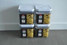 OXO POP Square Container 2.4-qt Airtight Seal Food Storage, Set of 4, Ships Free
