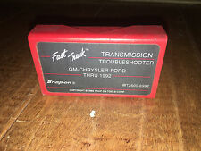 SNAP ON MT2500-6992 FAST TRACK TROUBLESHOOTER GM-CHRYSLER-FORD THRU 1992