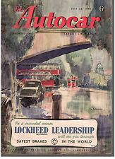 revue automobile: the Autocar: july 23 1948
