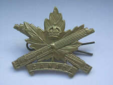 original vintage canada  machine gun corps cap badge