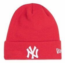 Topshop NY Badged New Era York Yankees Red Slogan Beanie Hat BNWT RRP £18 Logo