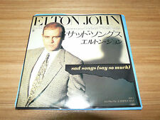 "ELTON JOHN Sad Songs JAPAN 7"" 7PP-142"