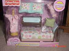 FISHER PRICE LOVING FAMILY DOLL HOUSE PARENTS BEDROOM RETIRED 2007