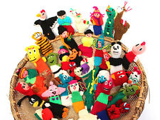 #499 Fair Trade Peruvian Finger Puppets Set 5 Assortment Birds Animals Insects