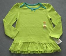 NEW Gymboree Color Happy Lime Green Swing Top Tunic Ruffles 5T-5 Girl Orig $15 T