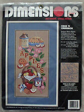 CIDER 'N CINNAMON STAMPED CROSS STITCH (NO COUNT) KIT BY DIMENSIONS 1993 NEW