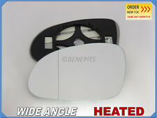 Wing Mirror Glass VW SHARAN 2005-2010 Wide Angle HEATED Left Side #1033