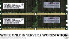 8GB (4 x 2 GB) PC2 5300P 667 MHz ECC DDR2 SDRAM RDIMM 38L6042 41Y2764
