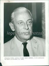 1968 Portrait of Author and TV host Alistair Cooke Original News Service Photo