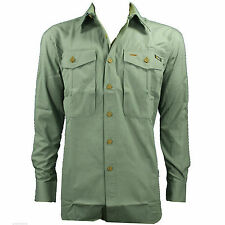 NEW National Geographic Mens Adventure Travel Green Button-Front Shirt XL