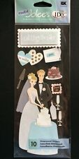 """A Touch Of Jolee's """" Cutting The Cake"""" Wedding Dimensional Stickers"""